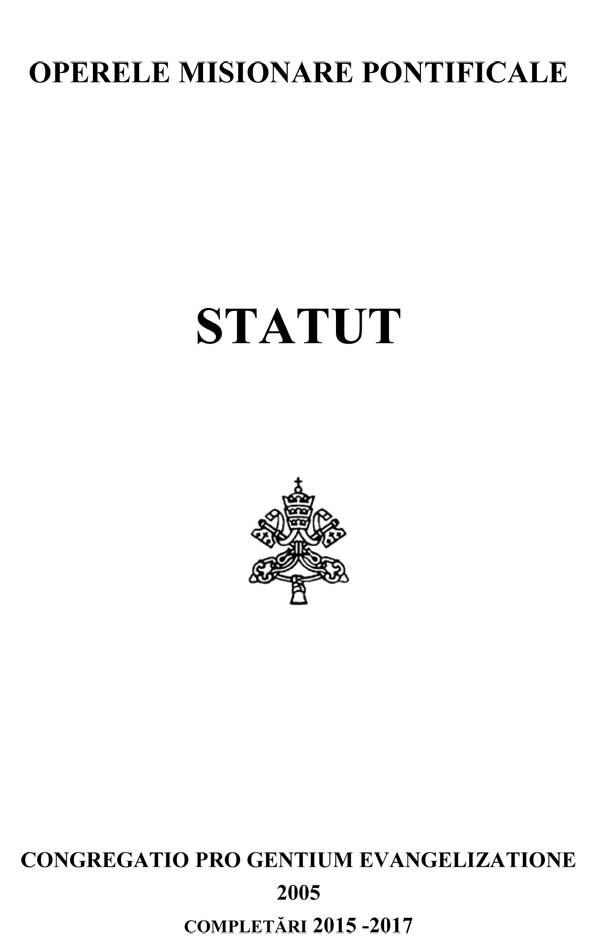 Operele Misionare Pontificale. Statut